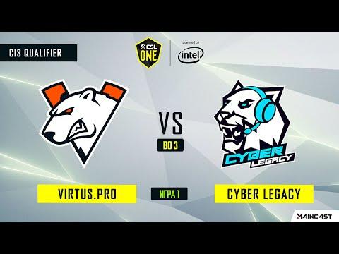 Virtus.pro Vs Cyber Legacy (игра 1) BO3 | ESL One Los Angeles | CIS Qualifier