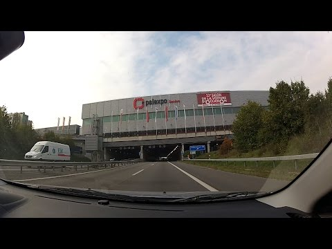 Autoroute A1 (Perly to Bellevue), Canton of Geneva / de Genève, Switzerland (Suisse) – onboard cam