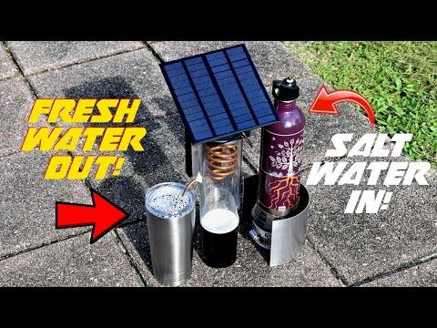 Turn Salt Water Into FRESH! (Solar Cooled Desalinator)