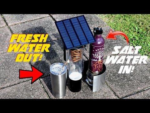 DIY Solar Desalinator/Distiller (Turn Salt Water Into FRESH WATER!)