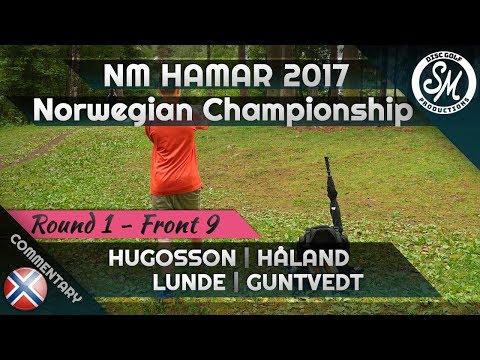 Norwegian Championship 2017 | Round 1 Front 9 | Hugosson, Håland, Lunde, Guntvedt
