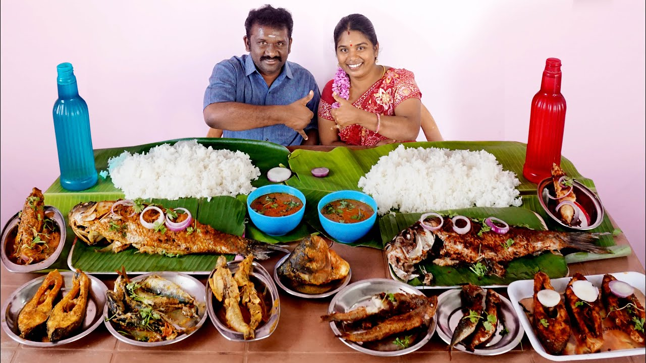 Variety Fish Eating Competition in Foodies Food Revathi Vs Durai    குழம்பு மீன்  Vs பொரிச்ச மீன்