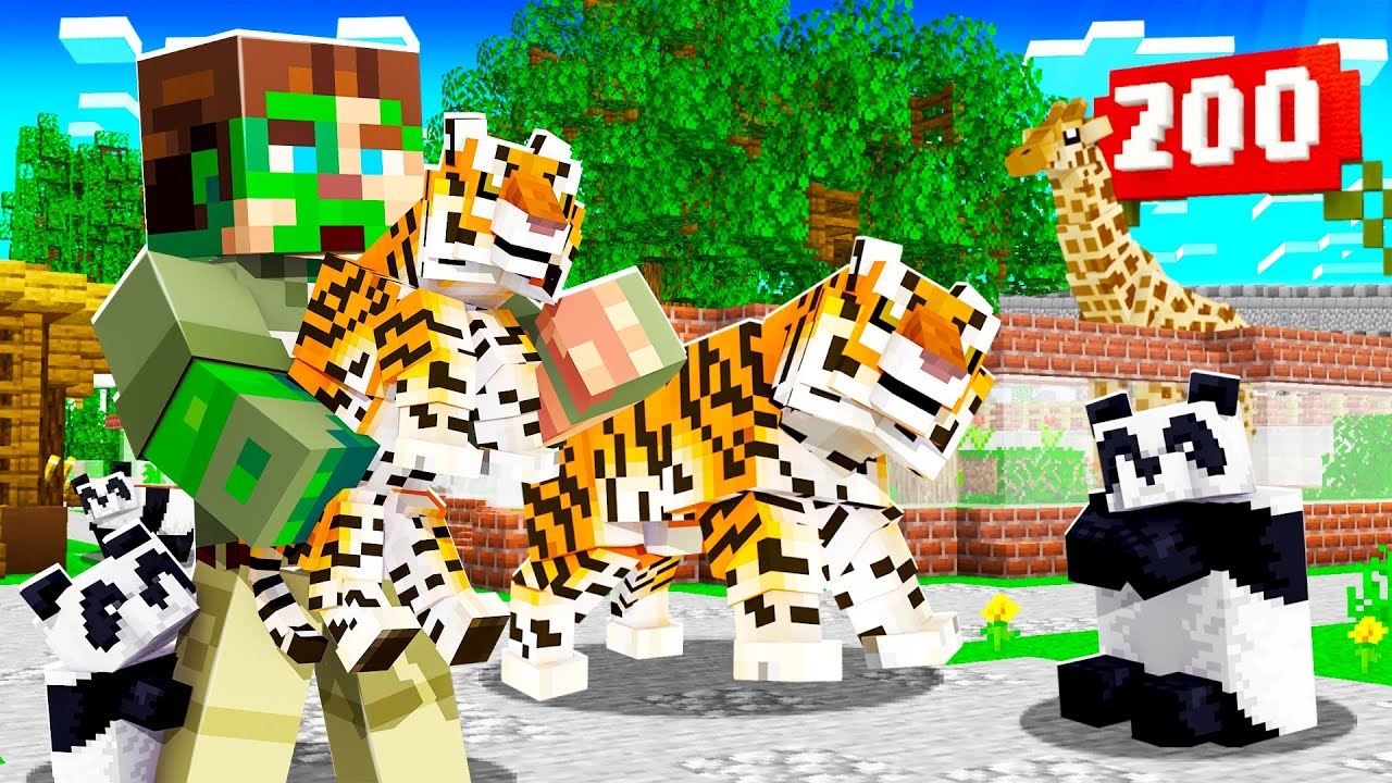OPENING a PETTING ZOO in MINECRAFT! (animals)