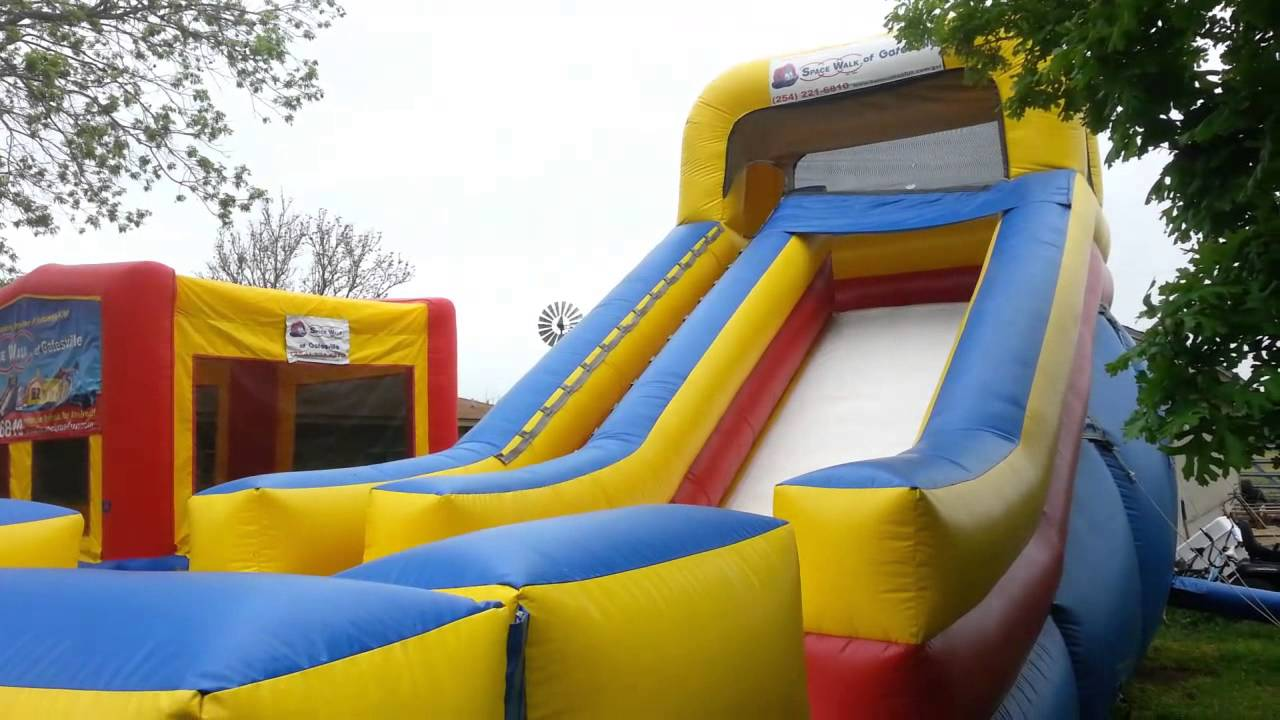 Big Slide! Space Walk Of Gatesville. Bounce Houses U0026 Moonwalks Gatesville,  Tx   YouTube