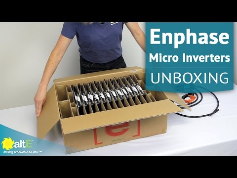 enphase micro inverters m250 m215 unboxing. Black Bedroom Furniture Sets. Home Design Ideas