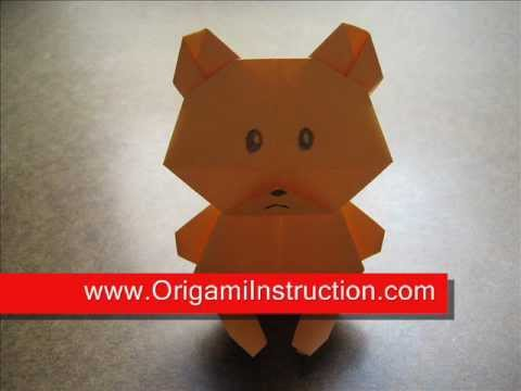 Origami Instructions Origami Teddy Bear Youtube