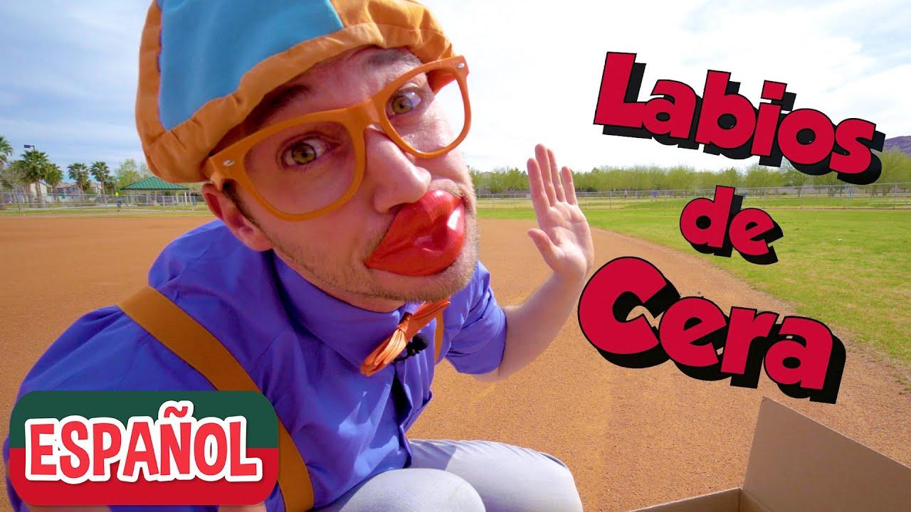 Aprende colores para niños con Blippi Español   CAJAS DE COLORES   Videos educativos para niños