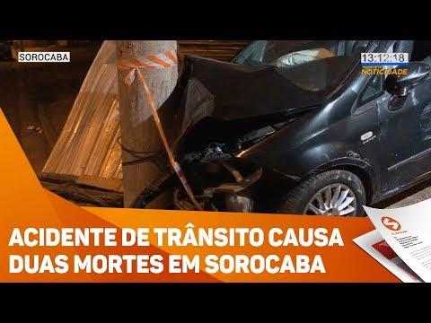 Acidente de trânsito causa duas mortes em Sorocaba - TV SOROCABA/SBT