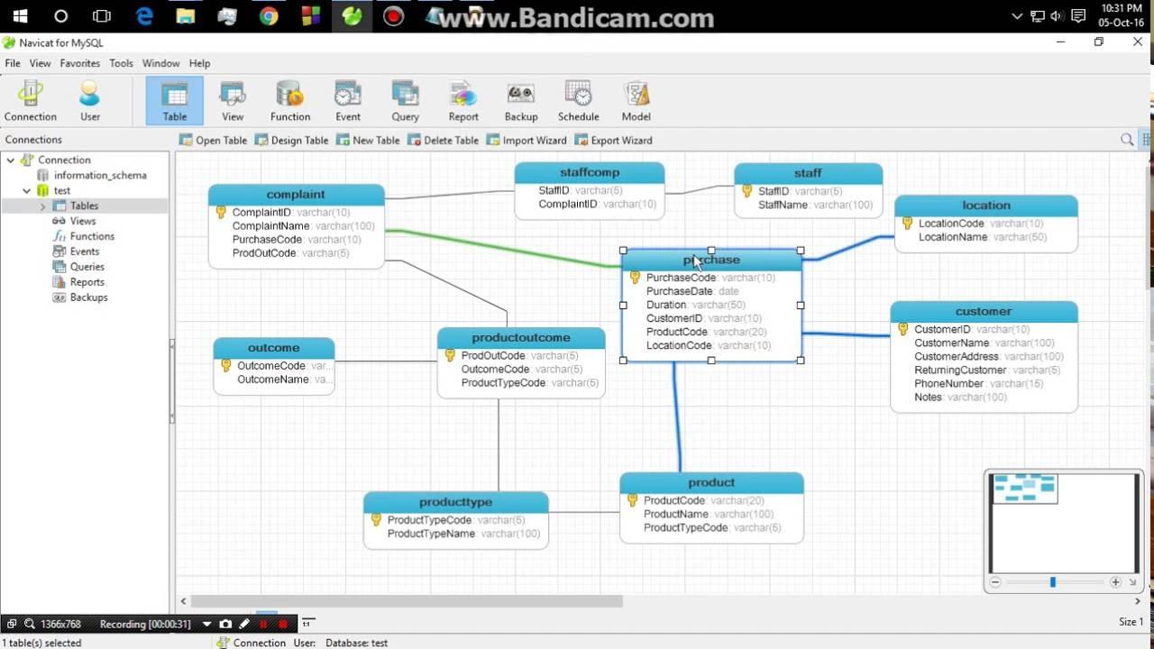 how to auto generate erd from navicat for mysql youtube rh youtube com mysql er diagram generator mysql er diagram generator [ 1280 x 720 Pixel ]