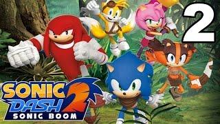 Sonic Dash 2: Sonic Boom - Gameplay Walkthrough Part 2 - Level 2-4 (iOS, Android)