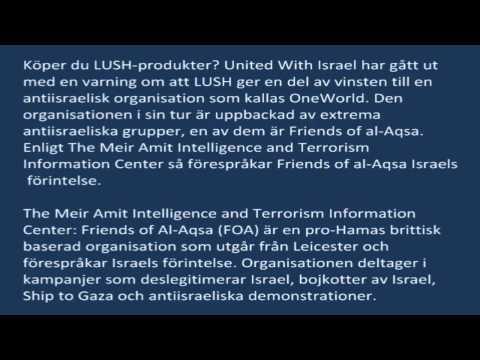 LUSH ger en del av vinsten till en antiisraelisk organisation