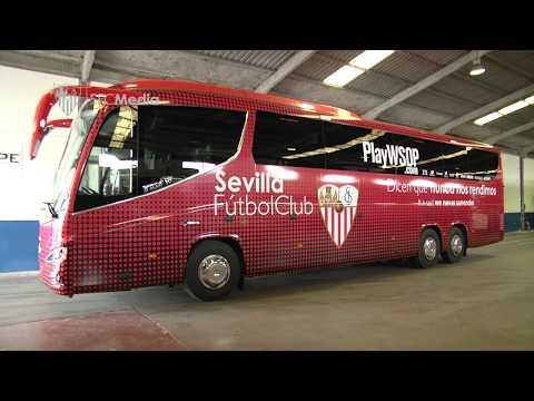 Presentación Nuevo Autobus Sevilla FC. 06/02/18. Sevilla FC