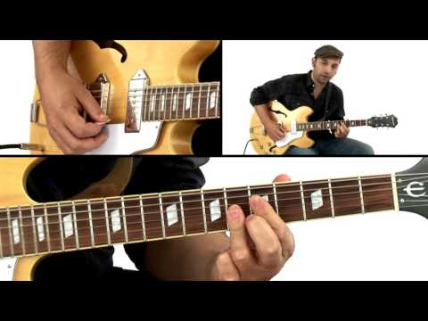 Swing Blues Rhythm Lesson - Comping Study 1 - David Blacker