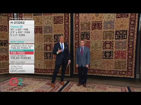 Royal Palace Special Edition Tabriz Panel Wool Rug on QVC