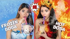 Eating Only HOT vs COLD Food Challenge