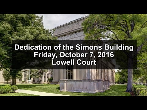 Dedication of the Simons Building at MIT