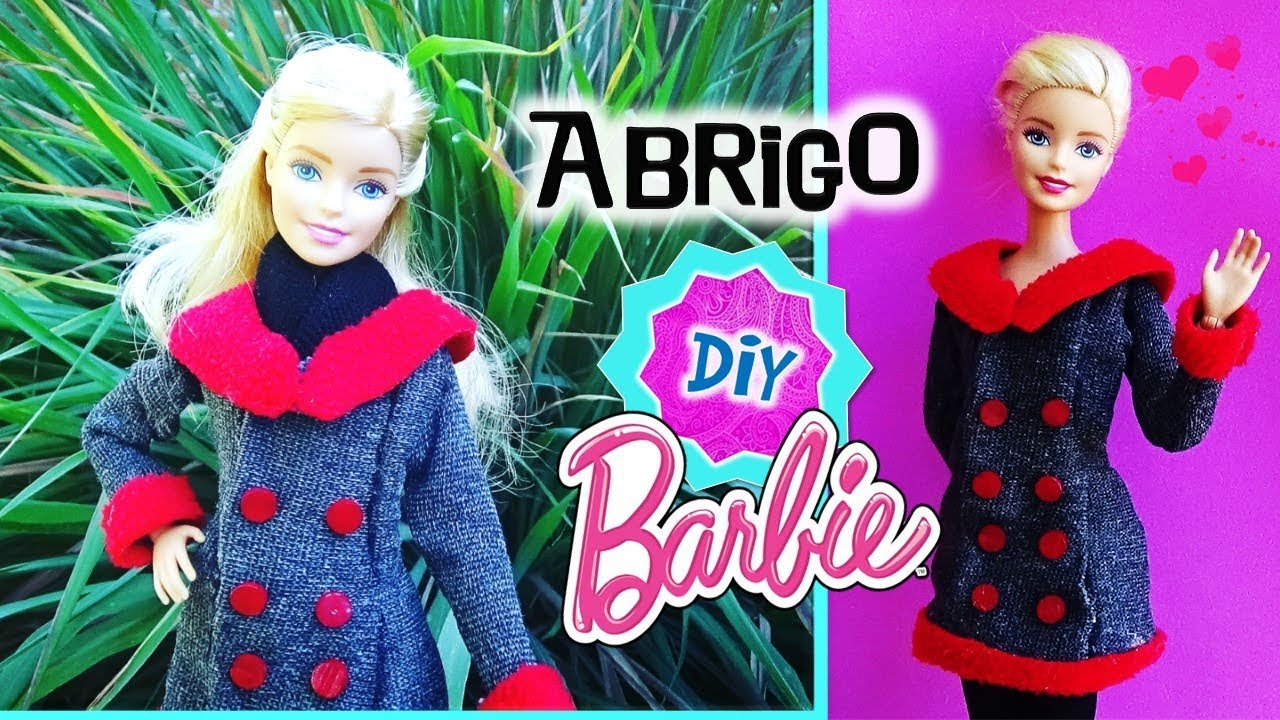últimas tendencias de 2019 la mejor calidad para a pies en Como hacer ABRIGO para tus MUÑECAS Barbie SIN COSER! // Ropa MANUALIDADES  para MUÑECAS Barbie