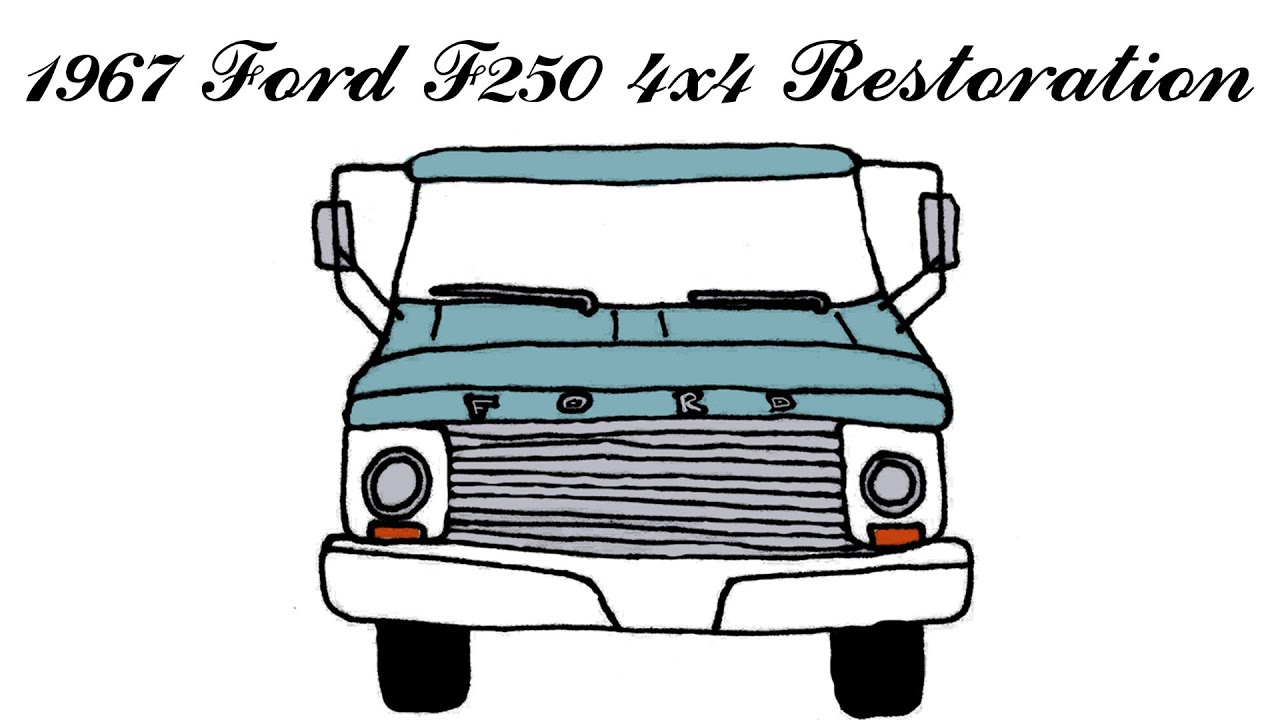 hight resolution of how to repaint and restore the inside cab of a classic 1967 ford f250 truck