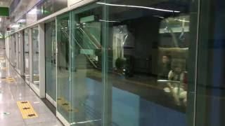【韓国】 釜山都市鉄道(地下鉄)4号線 寿安駅  부산 도시철도 4호선  수안역 Busan Metro Line 4 Suan Station (2016.6)