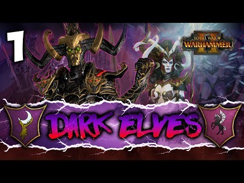 RISE OF THE WITCH KING! Total War: Warhammer 2 - Dark Elves Coop Campaign w/ Pixelated Apollo #1
