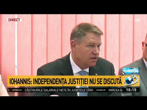 Klaus Iohannis: Vreau să felicit CSM pentru activitatea din anul 2017
