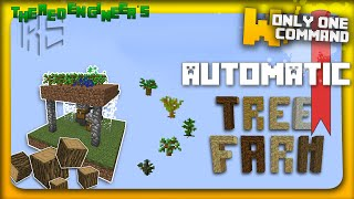 Minecraft - Automatic tree farm with only one command block