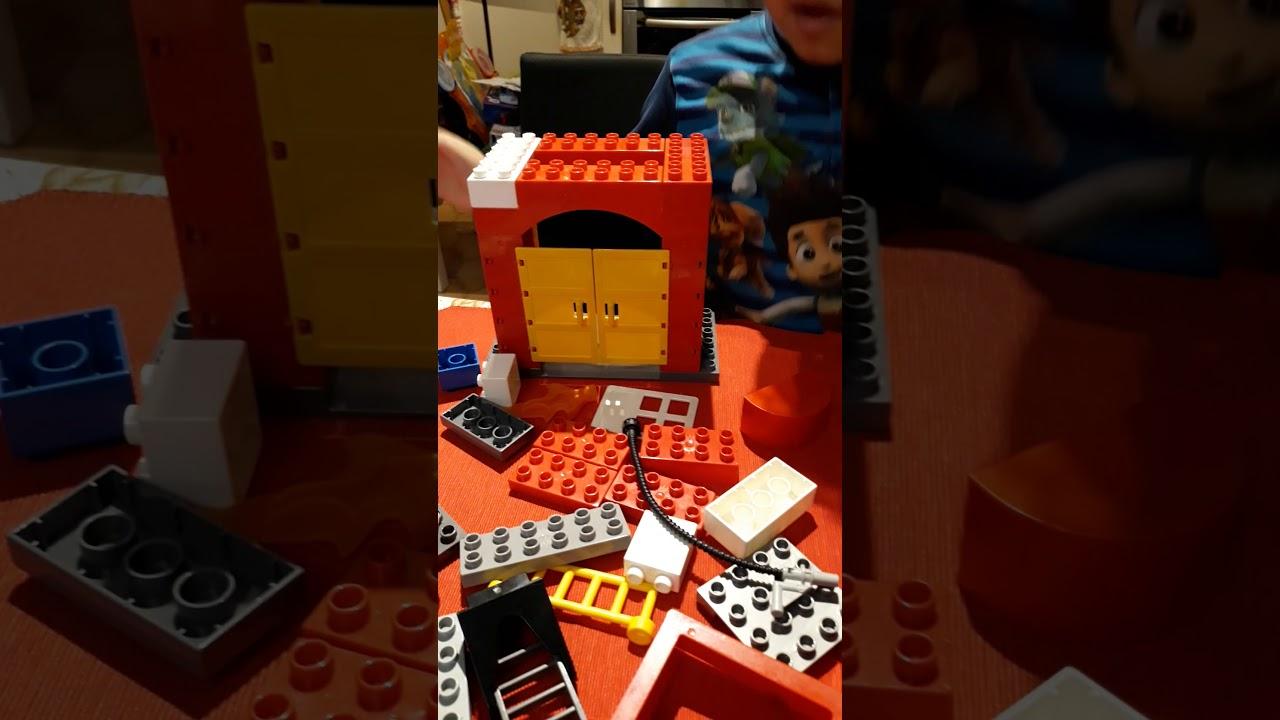 Lego Duplo Caserma Dei Pompieri Prima Parte By Lorenzo Youtube