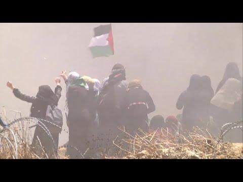 Fler än 50 döda vid ambassadprotester i Gaza - över 2.200 skadade - Nyheterna (TV4)