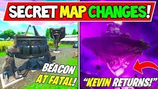 "'NEW' FORTNITE SECRET MAP CHANGES ""IT X Fortnite"" - ""Cube Returning at Fatal Fields!"""