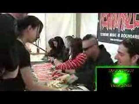 Terrorizer Bloodstock Open Air Signing Tent 2007