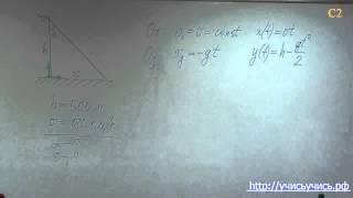 Физика ЕГЭ. Задача С2 - решение.(Запишись на БЕСПЛАТНЫЙ вебинар