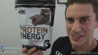 Optimum Nutrition Protein Energy Supplement Review - MassiveJoes.com Raw Review Whey Powder ON(Buy Optimum Nutrition Protein Energy Here: http://massivejoes.com/shop/optimum-nutrition-protein-energy Visit our Website: http://MassiveJoes.com Like us on ..., 2015-06-03T01:32:17.000Z)