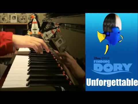 "Finding Dory Song - ""Unforgettable"" - Sia (Piano Cover by Amosdoll)"