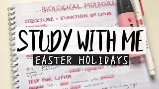 STUDY WITH ME | EASTER HOLIDAYS #1 - A Levels (7 HOURS)