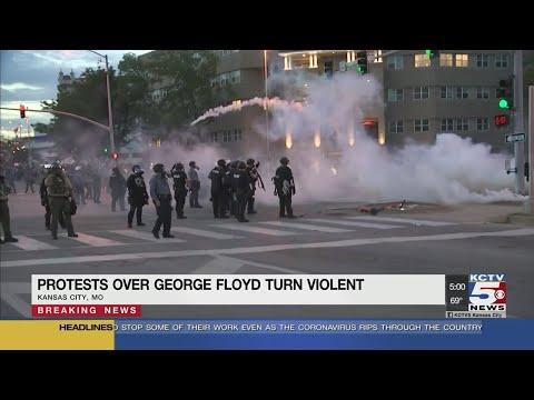 Protests Over George Floyd Turn Violent In Kansas City