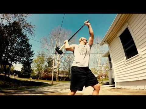 Full Workout : Air Swings, 70lbs Hammer on a Tire, the Choke Press