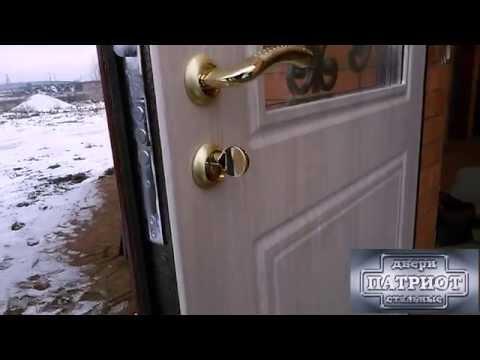 Стальная входная дверь в коттедж от компании «Стальные двери ПАТРИОТ».