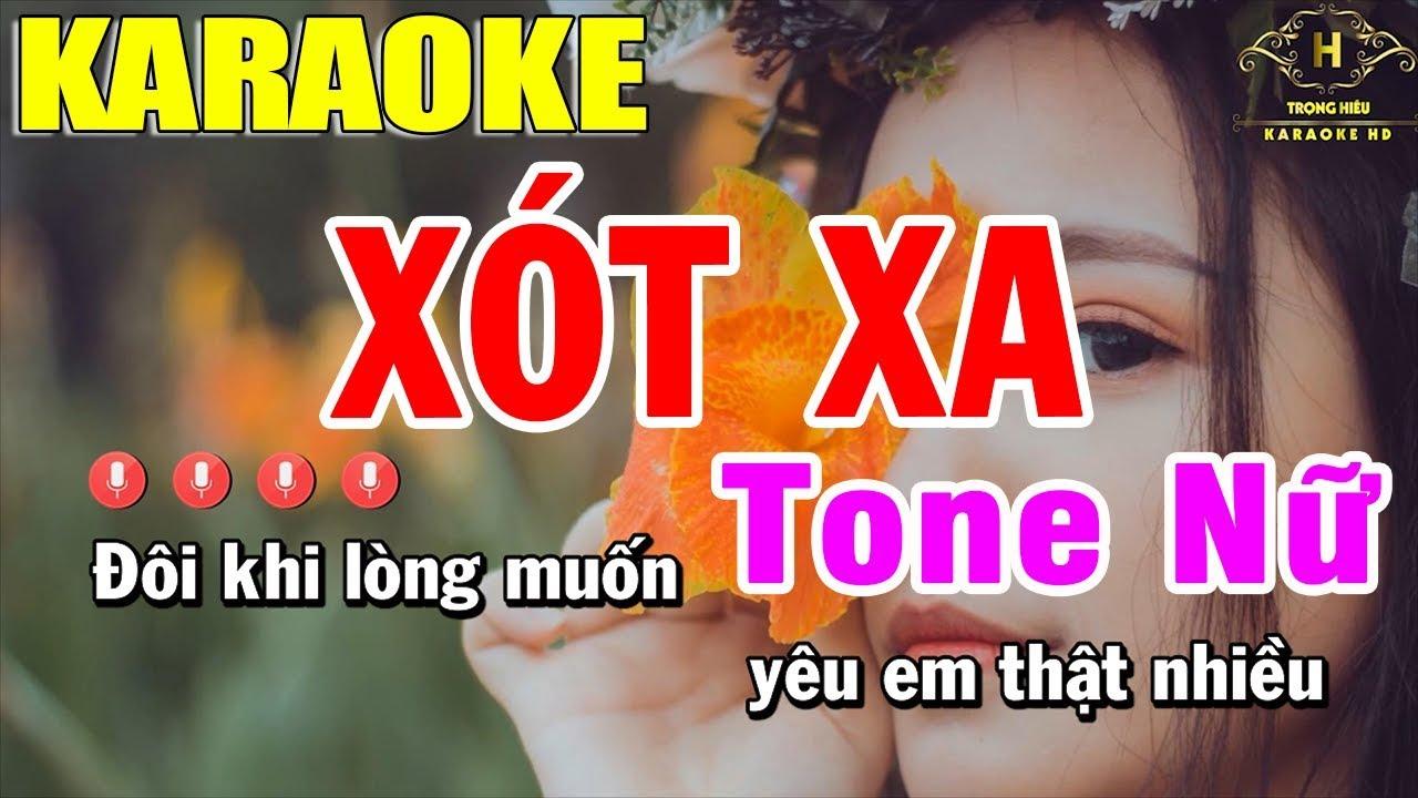 Karaoke Xót Xa Tone Nữ Nhạc Sống | Trọng Hiếu