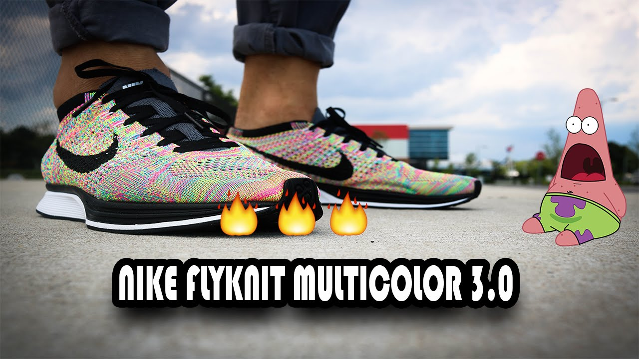 ecbde1551cd8c Nike Flyknit Racer Multicolor 3.0 Review - YouTube