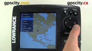 Компанії Lowrance еліт 5 ДСІ відео інструкція Налаштування GPS у налаштуваннях шапки