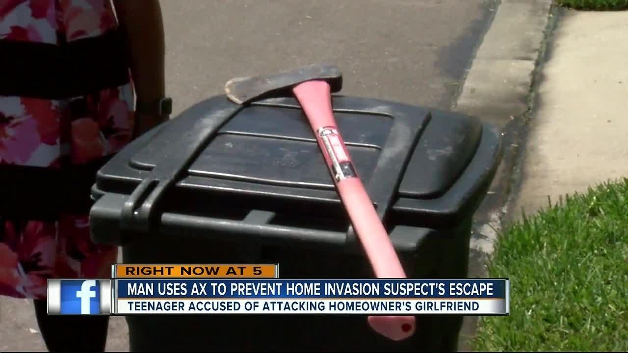 Axe-wielding boyfriend saves girlfriend from home invasion in Pinellas Park