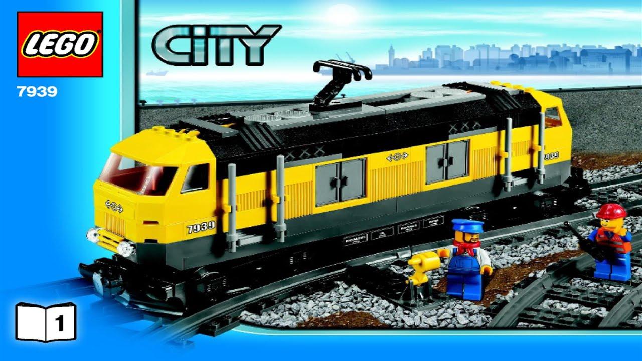 Lego Cargo Train 7939 Instruction Booklet Youtube