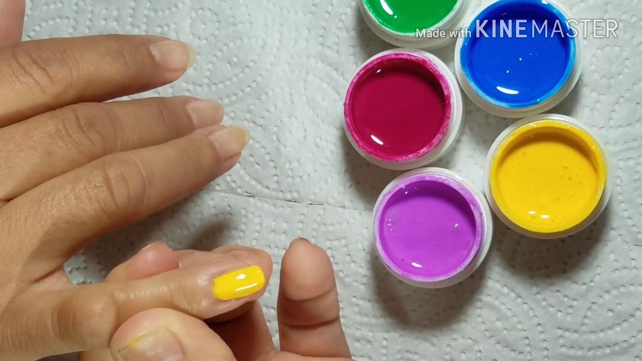 Ya Sabes Aplicar Gel De Colores En Uñas Naturales