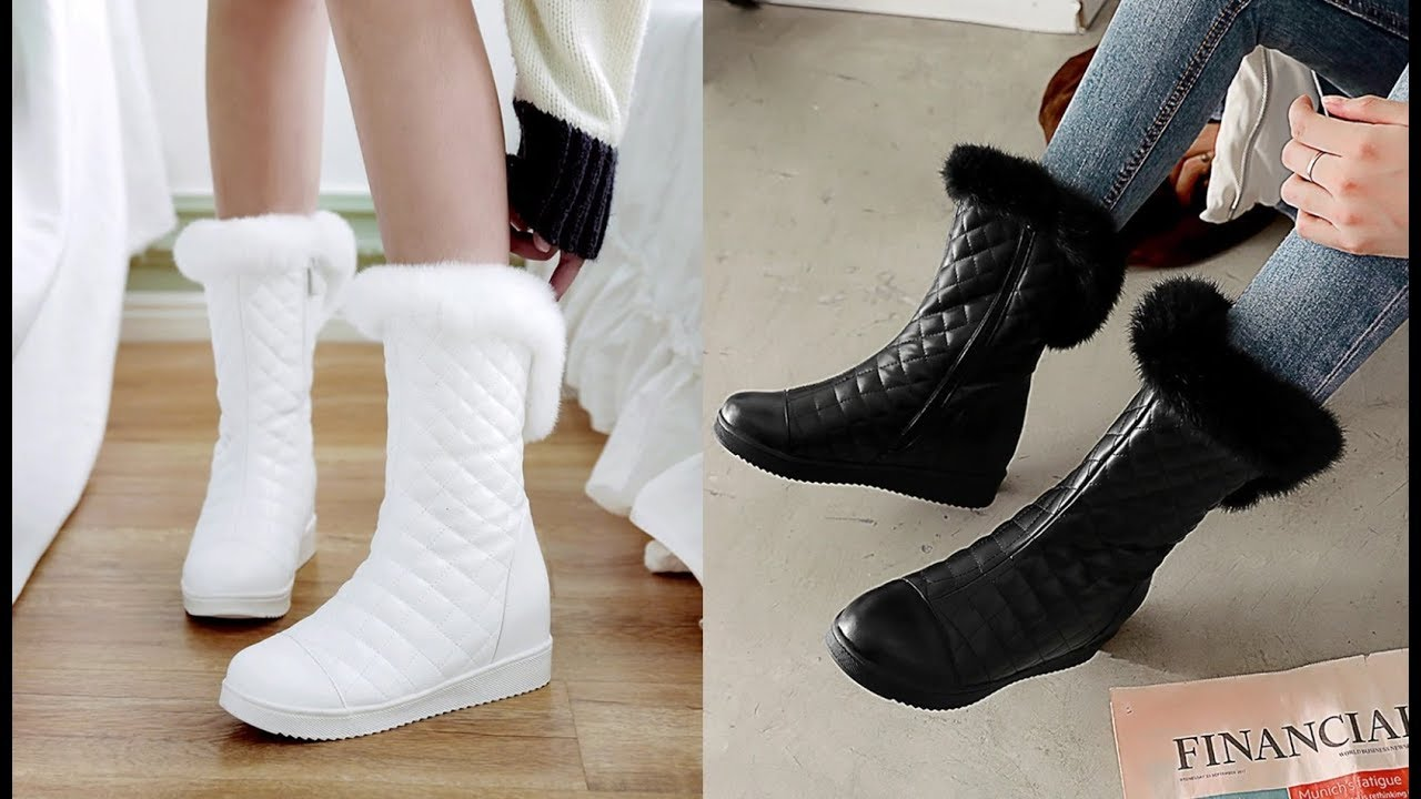 7 Женская Зимняя обувь с Алиэкспресс AliExpress Womens winter boots Крутые вещи из Китая