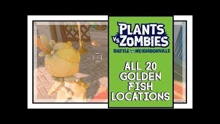 Plants VS Zombies BFN All Golden Fishes Locations