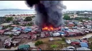 Kebakaran Kampung Titingan Tawau - Sabah Malaysia 19072021