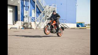 KTM Duke 390 2018. Тест-райд за 60 секунд.