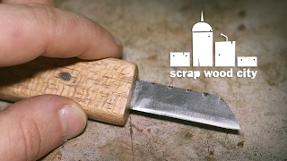 How to make a mini knife from a hacksaw blade