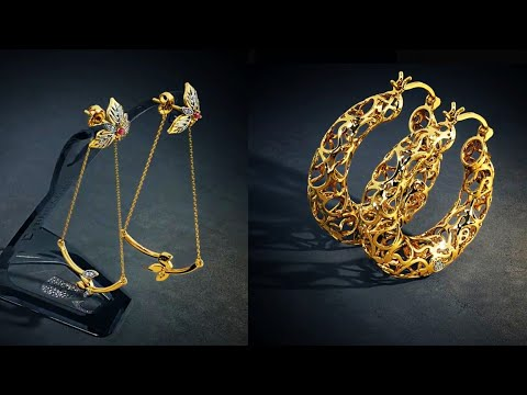 Latest Gold Hoop Earrings Design With Price & Weight Ft. BlueStone Jwellery