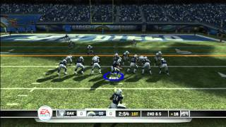 CGRgameplay - MADDEN NFL 11 (XBOX 360) Chargers Vs. Raiders Gameplay Part 1